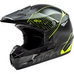 Youth Black/Hi-Vis Yellow MX46 Colfax Helmet - G3463602