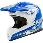 Blue/White MX86 Revoke Helmet - G3866046