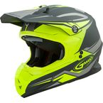 Matte Gray/Hi-Vis Yellow MX86 Revoke Helmet - G3866606