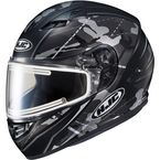Semi-Flat Gray/Black CS-R3 Songtan MC-5SF Snow Helmet w/Electric Shield - 041-754