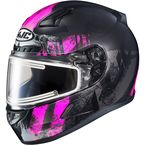 Semi-Flat Black/Pink/Gray CL-17SN Arica MC-8SF Snow Helmet w/Electric Shield - 057-784