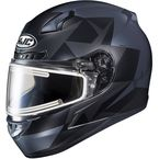 Semi-Flat Gray/Dark Blue/Black CL-17SN Ragua MC-5SF Snow Helmet w/Electric Shield - 059-758