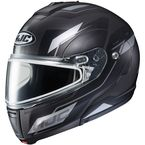 Semi-Flat Black/Silver/Gray CL-Max 3 Flow MC-5SF Snow Helmet w/Dual Lens Shield - 1013-753