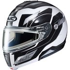 White/Black/Silver CL-Max 3 Flow MC-10 Snow Helmet w/Electric Shield - 1113-707