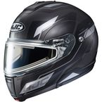 Semi-Flat Black/Silver/Gray CL-Max 3 Flow MC-5SF Snow Helmet w/Electric Shield - 1113-754