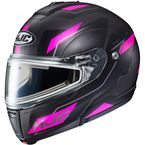 Semi-Flat Black/Pink/Gray CL-Max 3 Flow MC-8SF Snow Helmet w/Electric Shield - 1113-784