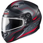 Semi-Flat Black/Red/Gray CS-R3 Trion MC-1SF Snow Helmet w/Dual Lens Shield - 143-715