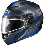 Semi-Flat Black/Blue/Gray CS-R3 Trion MC-2SF Snow Helmet w/Dual Lens Shield - 143-725