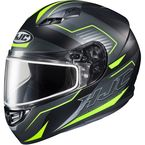 Semi-Flat Black/Hi-Viz/Gray CS-R3 Trion MC-3HSF Snow Helmet w/Dual Lens Shield - 143-733
