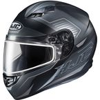 Semi-Flat Black/Gray CS-R3 Trion MC-5SF Snow Helmet w/Dual Lens Shield - 143-754
