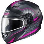 Semi-Flat Black/Pink/Gray CS-R3 Trion MC-8SF Snow Helmet w/Dual Lens Shield - 143-784