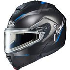 Semi-Flat Black/Blue IS-Max 2 Dova MC-2SF Snow Helmet w/Electric Shield - 195-722