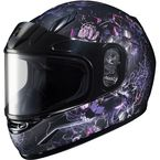 Youth Semi-Flat Black/Blue/Red/Gray CL-YSN Vela MC-8SF Snow Helmet w/Dual Lens Shield - 241-784
