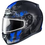 Semi-Flat Black/Blue/Gray CL-17SN Arica MC-2SF Snow Helmet w/Dual Lens Shield - 857-724
