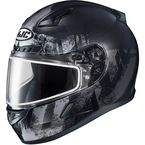 Semi-Flat Black/Gray CL-17SN Arica MC-4SF Snow Helmet w/Dual Lens Shield - 857-751