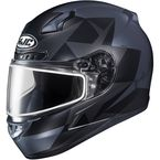 Semi-Flat Gray/Dark Blue/Black CL-17SN Ragua MC-5SF Snow Helmet w/Dual Lens Shield - 859-754