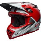 Matte/Gloss Red/White/Black Moto-9 Flex Hound Helmet - 7103923