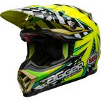 Green/Blue/Pink Moto-9 Flex Tagger Mayhem Helmet - 7098943