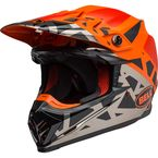 Matte/Gloss Orange/Black/Chrome Moto-9 MIPS Tremor Helmet - 7101903