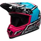 Blue/Pink/Black MX-9 MIPS Tagger Designs Asymmetric Helmet - 7100879