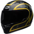 Black/Gold Flake Qualifier Scorch Helmet - 7101565