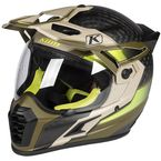 Matte Dune Tan/Black/Lime Krios Pro Arsenal Helmet - 3610-000-140-002