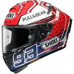 Matte Red/Blue/White X-Fourteen Marquez 5 TC-1 Helmet - 0104-2001-06