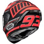 Matte Black/Red X-Fourteen Marquez Black Concept TC-1 Helmet - 0104-2101-06