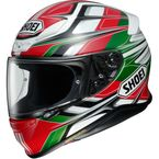 Red/Green/White RF-1200 Rumpus TC-4 Helmet - 0109-3704-06