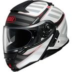Matte White/Gray/Black/Red Neotec II Splicer TC-6 Modular Helmet - 0116-1106-06