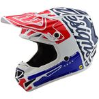 White/Blue Factory SE4 Polyacrylite Helmet - 109008013
