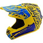 Yellow/Blue Factory SE4 Polyacrylite Helmet - 109008034