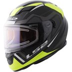 Black/Yellow Stream Axis Helmet w/Electric and Single Lens Shields - 328-2614