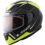 Black/Yellow Stream Axis Helmet w/Dual and Single Lens Shields - 328-3614
