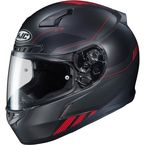 Semi-Flat Black/Red CL-17 Combat MC-1SF Helmet - 864-711