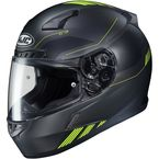 Semi-Flat Black/Hi-Vis Green CL-17 Combat MC-3HSF Helmet - 864-734