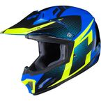 Youth Blue/Green/Black CL-XY II Argos MC-23 Helmet - 296-234