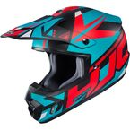 Semi-Flat Blue/Red/Black CS-MX 2 Madax MC-21SF Helmet - 332-214