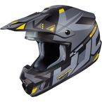 Semi-Flat Gray/Black/Yellow CS-MX 2 Madax MC-53SF Helmet - 332-534