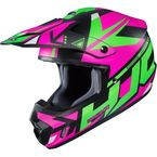 Semi-Flat Pink/Green//Black CS-MX2 Madax MC-84SF Helmet  - 332-844