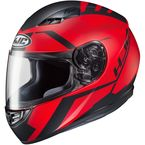 Semi-Flat Red/Black CS-R3 Faren MC-1SF Helmet  - 146-715