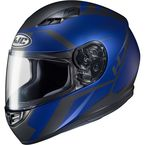 Semi-Flat Blue/Black CS-R3 Faren MC-2SF Helmet  - 146-724