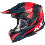 Semi-Flat Red/Black/Blue/White i50 Tona MC-5SF Helmet - 1306-714