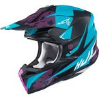 Semi-Flat Blue/Black/Pink/White i50 Tona MC-2SF Helmet - 1306-723
