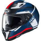 Semi-Flat Blue/White/Red/Black i70 Elim MC-1SF Helmet - 1404-715