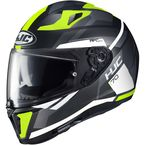 Hi-Vis Semi-Flat Black/Gray/Green/White i70 Elim MC-4HSF Helmet - 1404-743