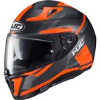 Hi-Vis Semi-Flat Gray/Orange i70 Elim MC-6HSF Helmet - 1404-762