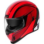 Red  Airform Conflux Helmet - 0101-12309