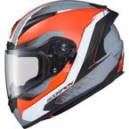 Orange/Gray EXO-R2000 Hypersonic Helmet - 200-7935