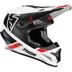 White/Black Sector Split Helmet w/MIPS - 0110-6219